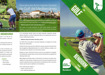 Folleto Golf Benidorm